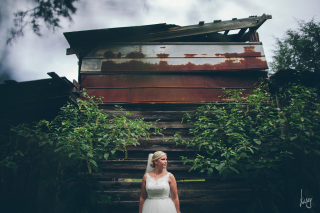 bridal session on a farm, kasey loftin photography