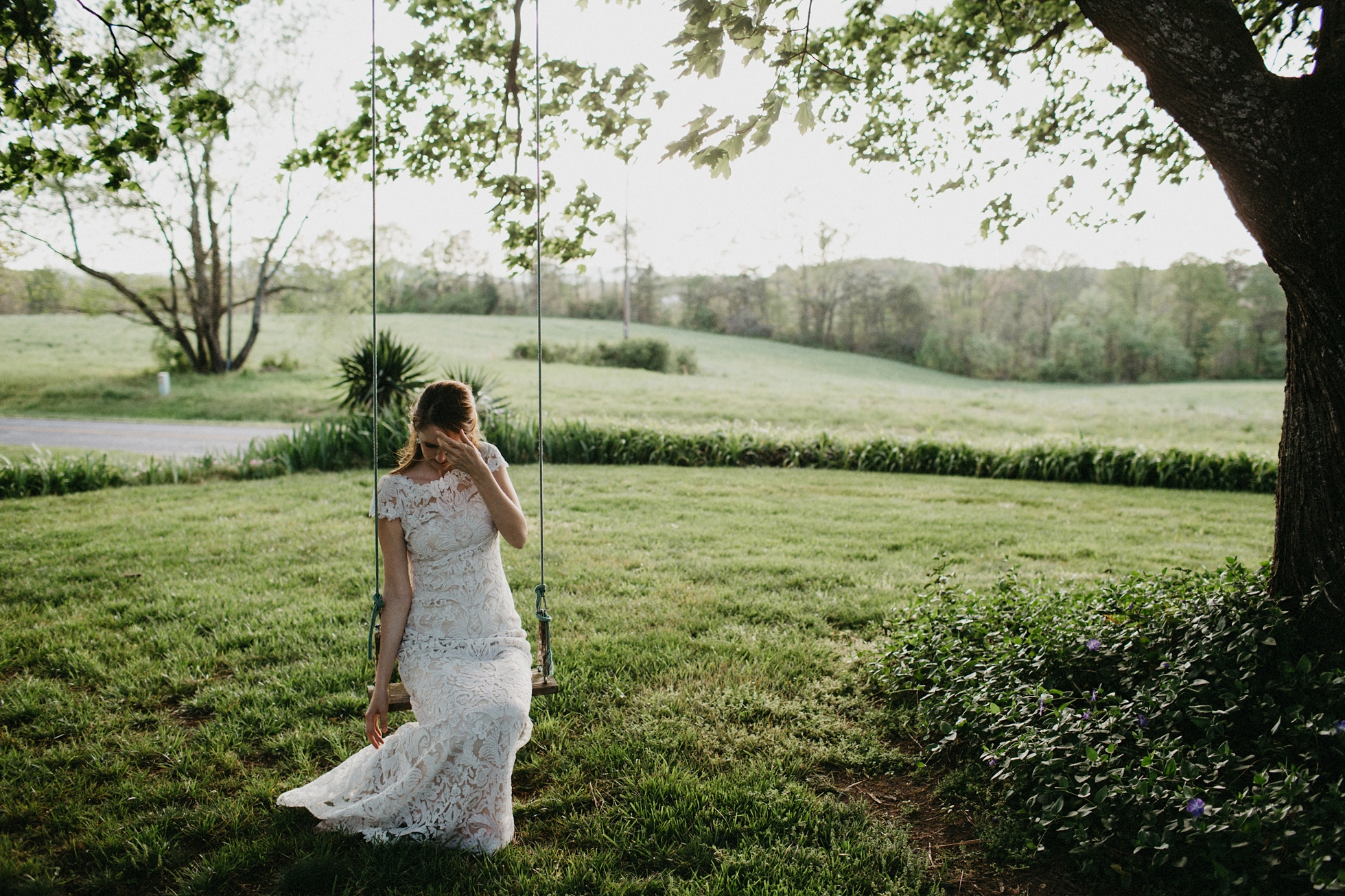 charlotte wedding photographer, lace dress bridal portraits