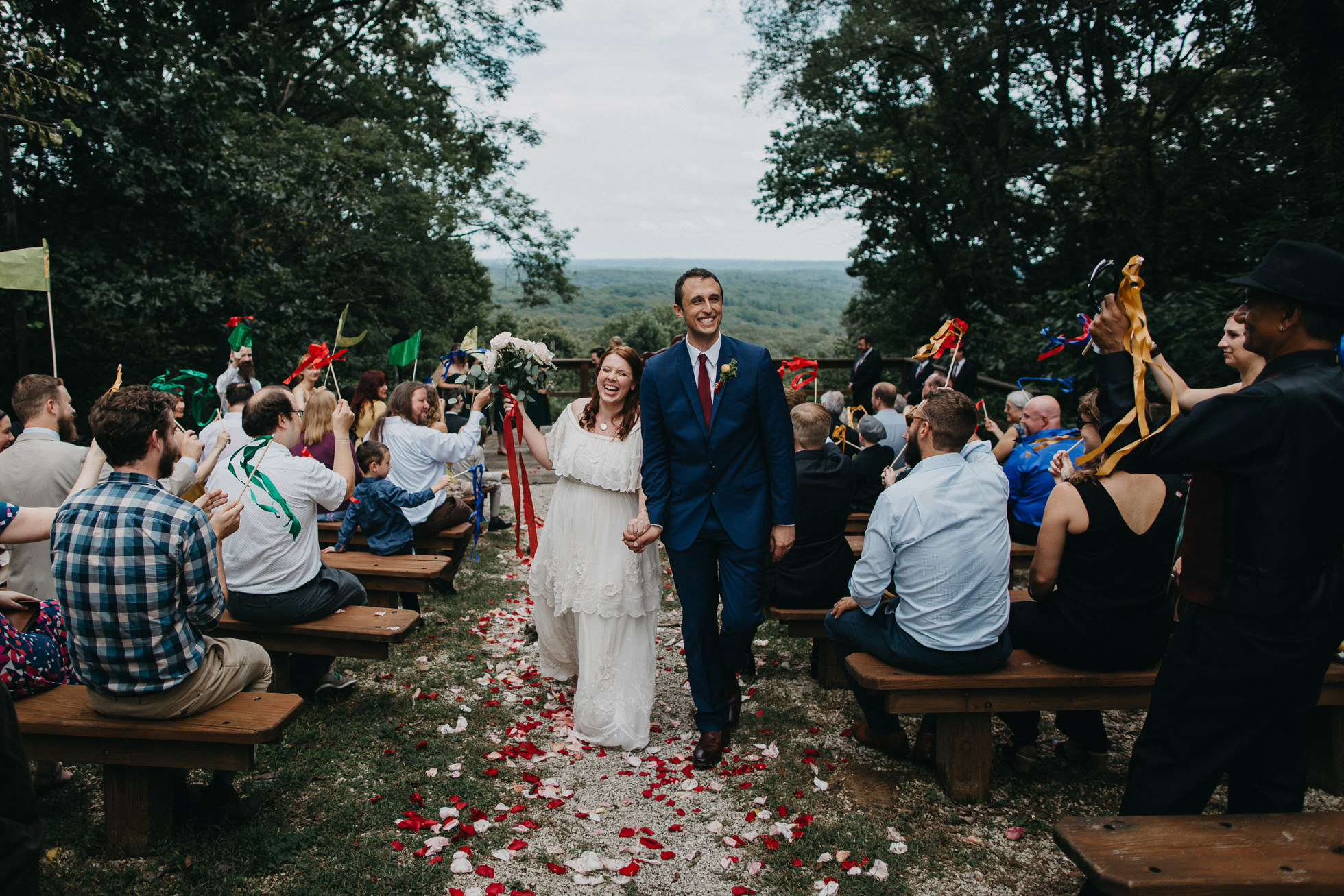 Outdoor Wedding In Brown County State Park Charlotte Photographer Kasey Loftin Photography